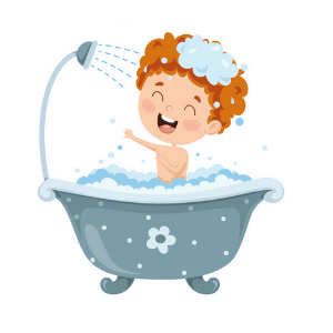 Daily Routine - boy taking a shower