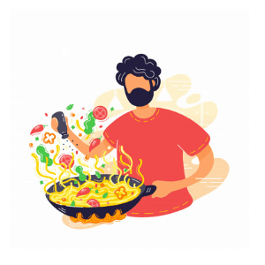 Daily routine - cook dinner
