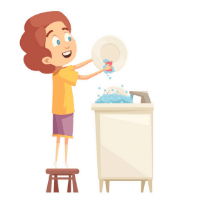 Daily Routine Example - Washing The dishes