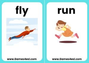 ESL Flashcards - Can Can't