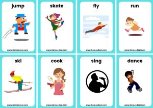 ESL Small Flashcards - Can Can't
