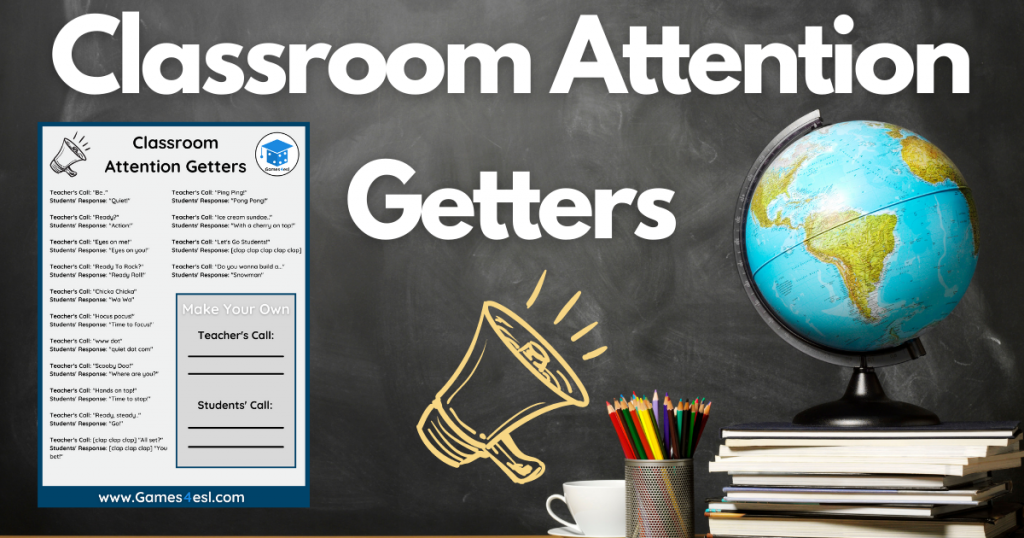 Classroom Attention Getter Examples