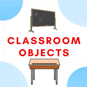 Classroom Objects Flashcards and Board Games