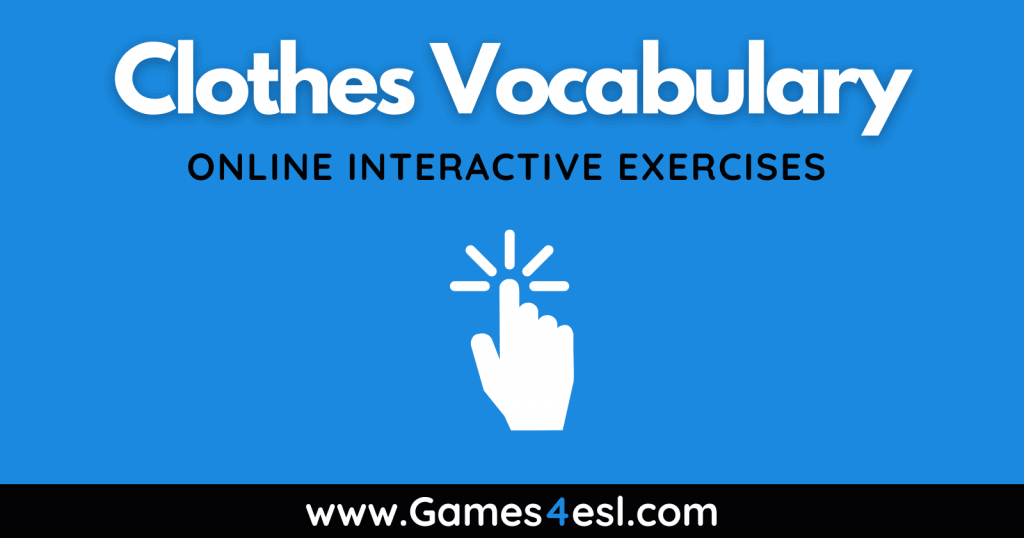 Clothes Vocabulary Exercises