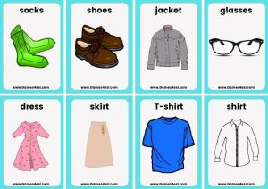 Small Flashcards - Clothes