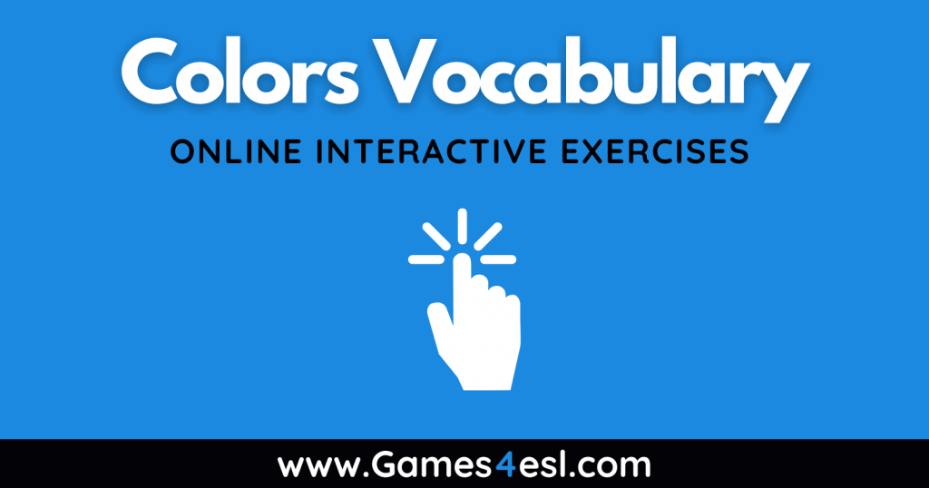 Colors Vocabulary Exercises