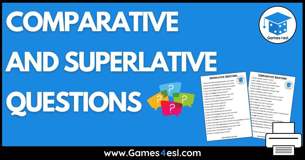 Comparative And Superlative Questions