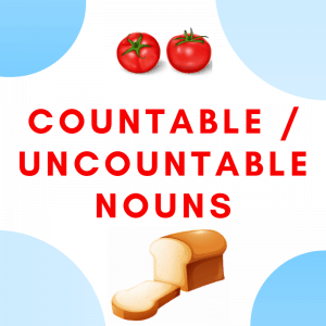 Countable and Uncountable Nouns Printables