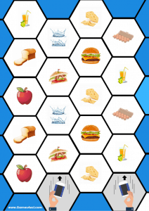 Countable and Uncountable Food board game