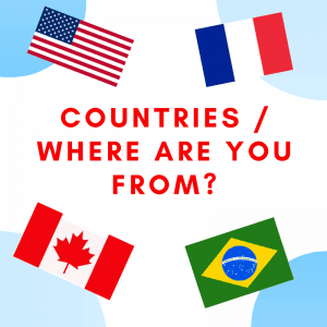 Countries ESL Printable Materials