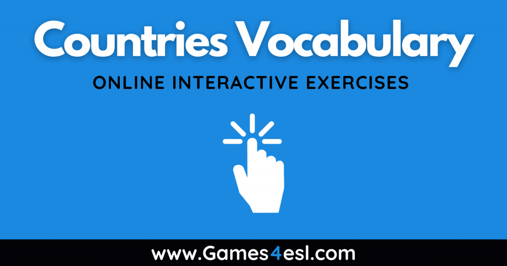 Countries Vocabulary Exercises