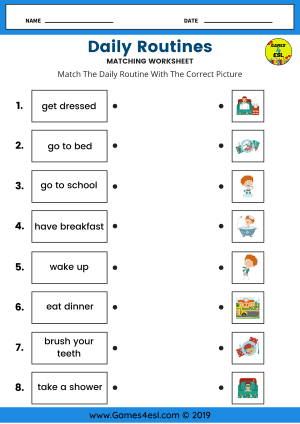 Daily Routine worksheets