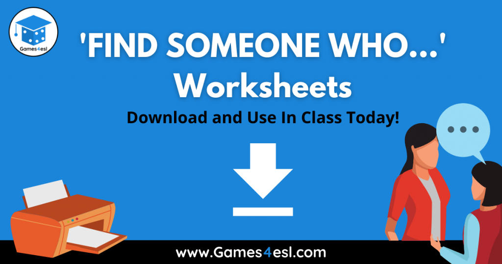 Find Someone Who Worksheets