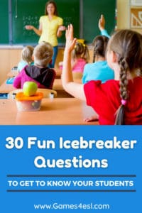 30 Fun Icebreaker Questions To Get To Know Your Students
