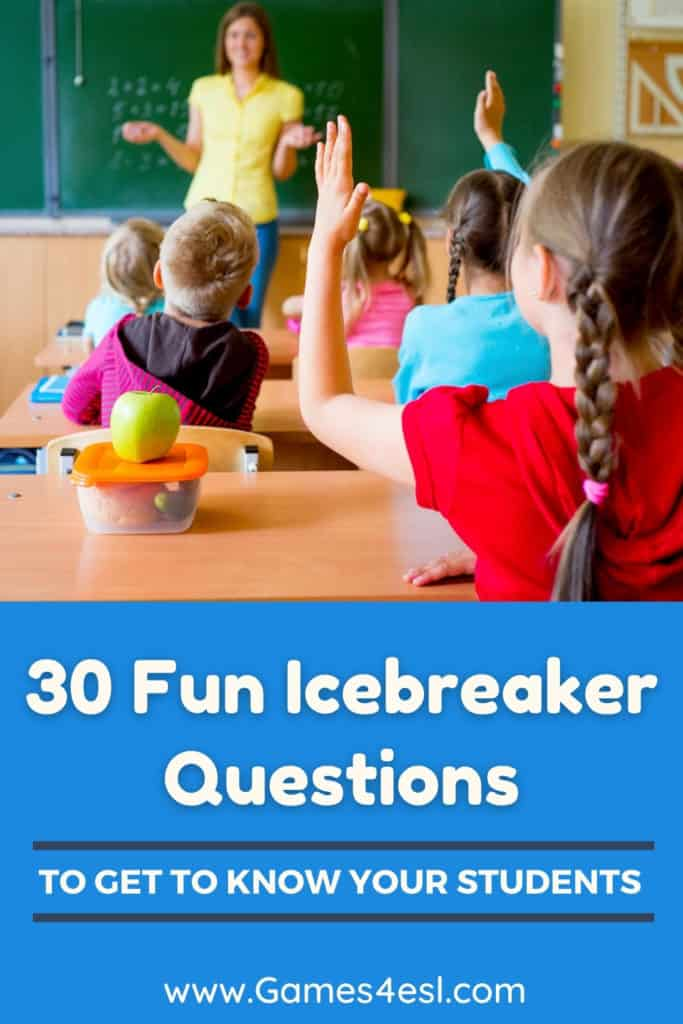 Fun Questions To Get To Know Students