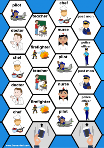 Printable Board Game - Jobs and Occupations