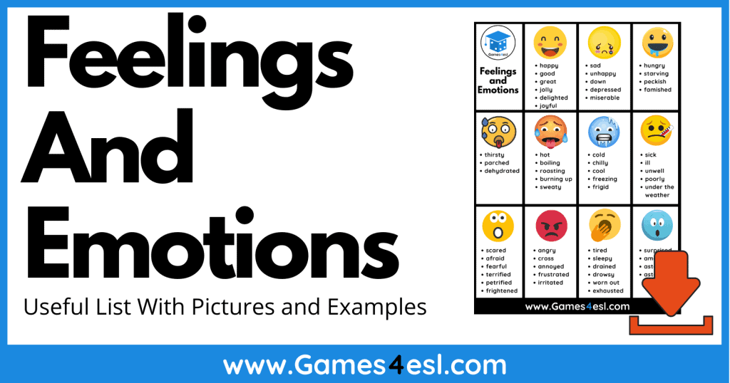 Feelings And Emotions in English