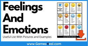 Useful List Of Feelings And Emotions In English