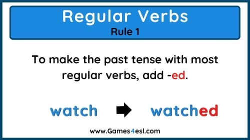 Past Tense Rules 1