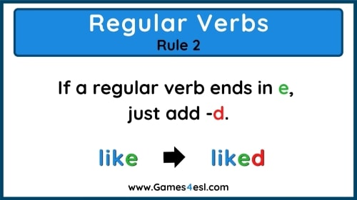 Past Tense Rules 2