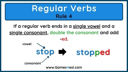 Past Tense Rules 4