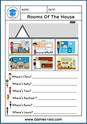 Rooms Of The House Worksheets