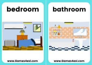 ESL Flashcards - Rooms of the House