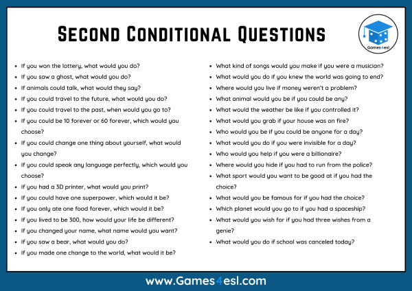 Second Conditional Questions