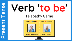 Verb To Be Activity - ESL Game