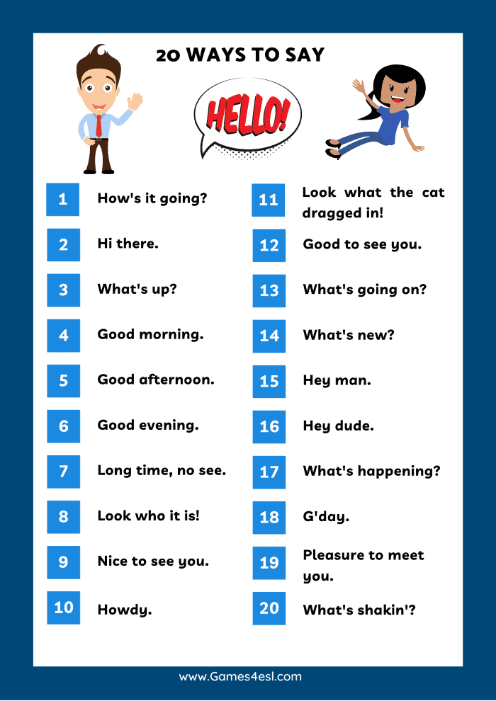 Ways To Say Hello In English