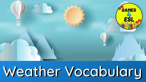 Weather Vocabulary With Pictures