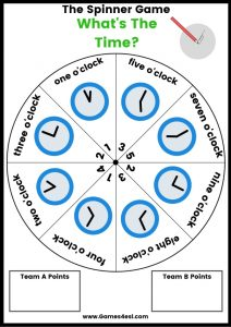 ESL Board Game - What's the Time?