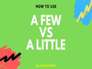 a few and a little quantifiers ESL powerPoint