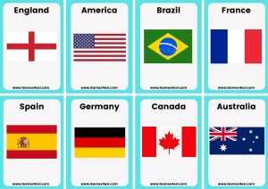 Small flashcards - countries