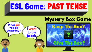 ESL game Past Tense - Mystery Box
