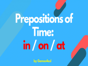Prepositions Of Time PowerPoint Presentation