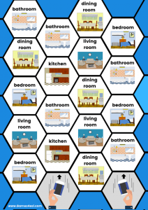 Printable board game rooms of the house