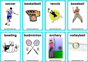 Small Flashcards - Sports