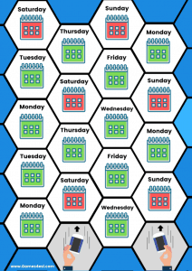Days Of The Week Board Game