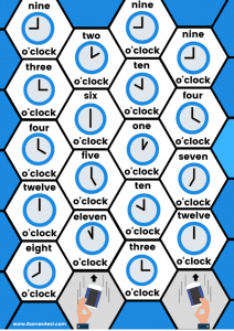 Printable Board Game - What's The Time?