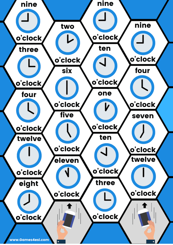 Telling The Time activity worksheet